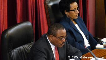 Äthiopien Premier Hailemariam Desalegns Rede in Parlament (DW/Y. Gebreegziabher)