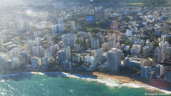 Puerto Rico - San Juan vom Flugzeug aus