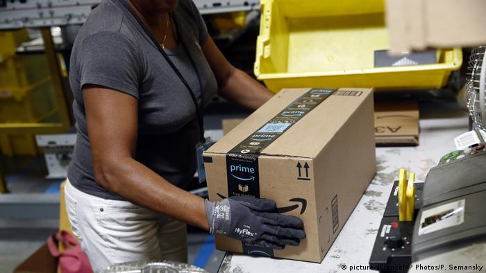 Amazon Logistikzentrum in Baltimore (picture-alliance/AP Photos/P. Semansky)