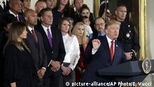 USA Präsident Donald Trump PK Gesundheitsnotstand Opioidkrise