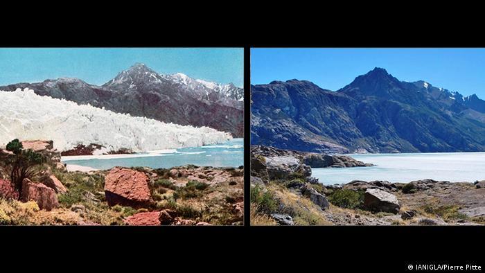 Glaciar Viedma en 1930 y 2014