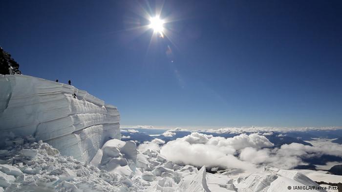 Glacier Tronador en el sol (IANIGLA/Pierre Pitte)