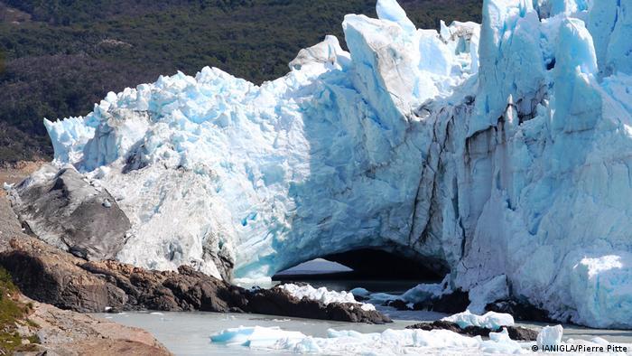 Perito Moreno, puente glaciar, Argentina (IANIGLA/Pierre Pitte)