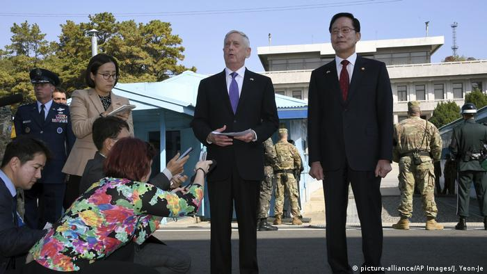Jim Mattis, Song Young-moo (picture-alliance/AP Images/J. Yeon-Je)