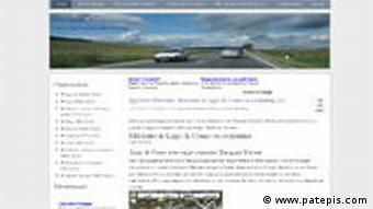 Screenshot der Website patepis.com