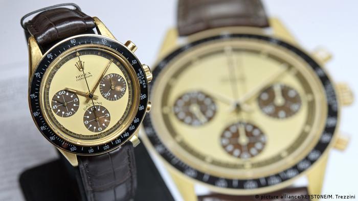 Versteigerung von Rolex Paul Newman Daytona (picture alliance/KEYSTONE/M. Trezzini)