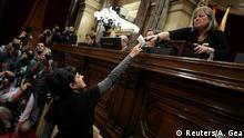 Spanien Barcelona - Sitzung im Katalanischen Regionalparlament