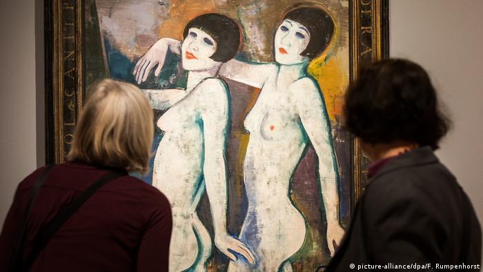 Frankfurt am Main Schirn Kunsthalle | Ausstellung Glanz und Elend der Weimarer Republik. Karl Hofer: Tiller Girls (picture-alliance/dpa/F. Rumpenhorst)
