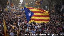Spanien Krise in Katalonien- Unabhängigkeitserklärung