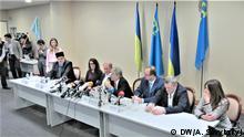 Ukraine Krimtataren-Leiter Ilmi Umerow und Achtem Chijgoz in Kiew