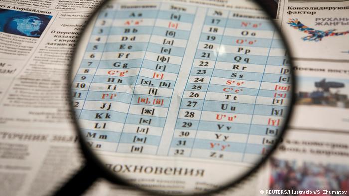Прежний вариант латинского алфавита в Казахстане