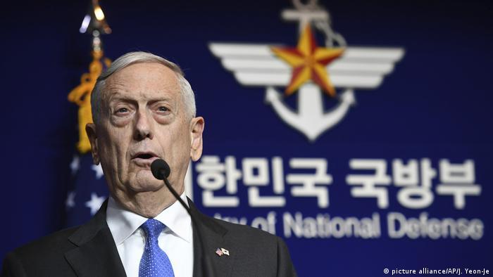 Verteidigungsminister Jim Mattis in Südkorea