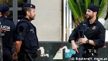 Katalonien Polizei bewacht regionales Parlament