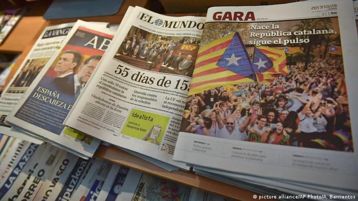 Press review: Spanish media cover the ′Catalan republic