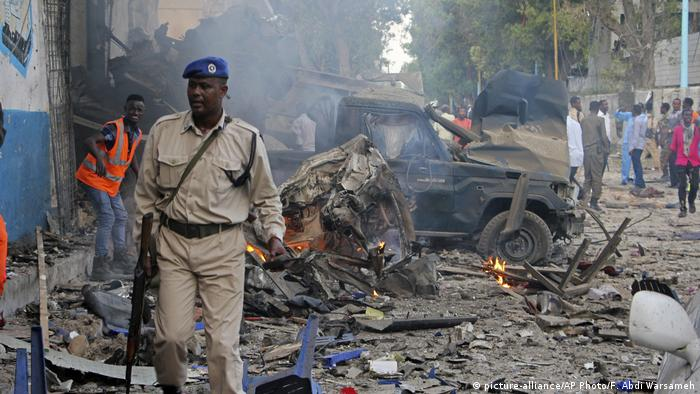 Image result for Two explosions hit Somalia's capital, Mogadishu onSaturday Images