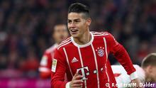 Deutschland Bayern München gegen RB Leipzig | James Rodriguez