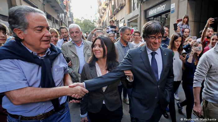 Spanien Puigdemont in Girona (Reuters/R. Marchante)