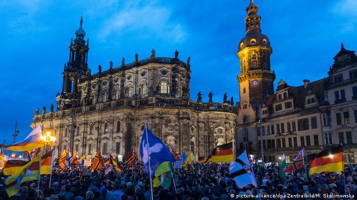 Pegida march in Dresden