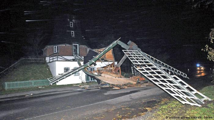 Historic windmill Catharina lies in ruins