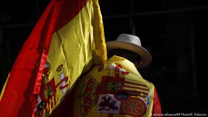 Учасник демонстрації за незалежність Каталонії (фото з архіву)