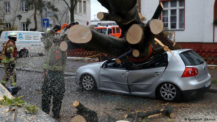 Наслідки буревію Герварт у Берліні 29.10.2017
