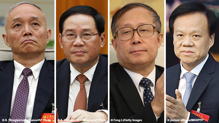 Bildkombo chinesische Spitzenpolitiker
