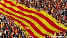 Spanien - Demonstrationen für die Einheit von Spanien und Katalonien in Barcelona
