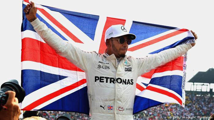 Formel 1 Mexiko Lewis Hamilton Weltmeister Fahne (Getty Images/M. Thompson)