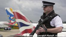 London Heathrow Sicherheit Polizei