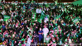 Saudi Arabien - Nationalfeiertagszeremonien im King Fahd Stadion in Riad (picture alliance/AP Photo/Saudi Press Agency)