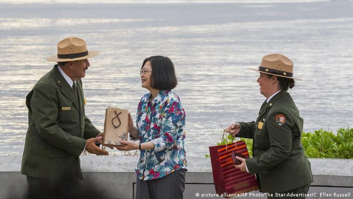 Hawai Pearl Harbor - Präsidentin Tsai Ing-wen (picture alliance/AP Photo/The Star-Advertiser/C. Ellen Russell)