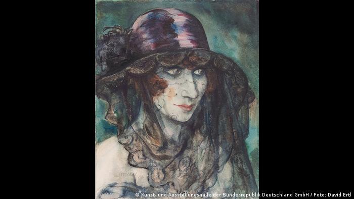 Otto Griebel, veiled woman, 1926 (Kunst- und Ausstellungshalle der Bundesrepublik Deutschland GmbH / Foto: David Ertl)