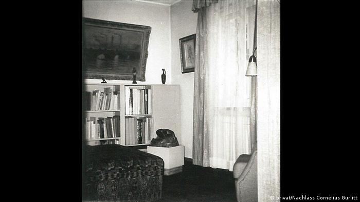Historic photo of a room in Cornelius Gurlitt's house in Salzburg (Photo: privat/Nachlass Cornelius Gurlitt)