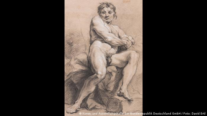 François Boucher, Male Nude (Kunst- und Ausstellungshalle der Bundesrepublik Deutschland GmbH / Foto: David Ertl)