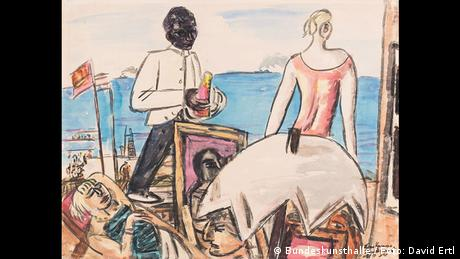 Max Beckmann: Zandvoort Beach Cafe.