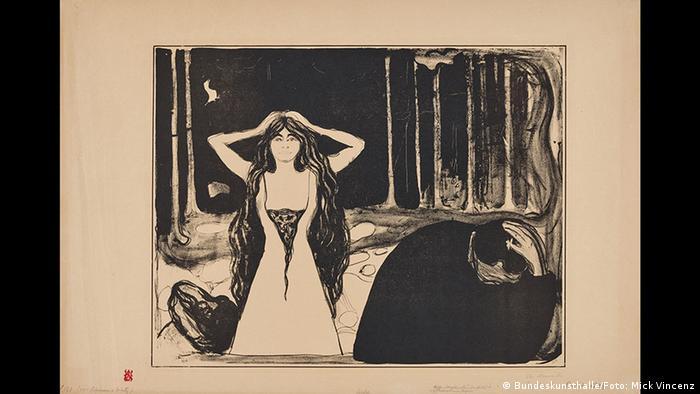 Edvard Munch, Ashes II, 1899 (Kunst- und Ausstellungshalle der Bundesrepublik Deutschland GmbH / Foto: Mick Vincenz)