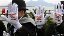 Proteste gegen die Mafia in Neapel