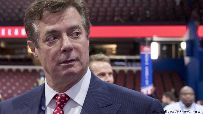 The then-Trump campaign chairman Paul Manafort at the 2016 Republican National Convention in Cleveland
