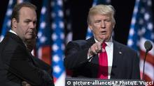 USA Rick Gates & Donald Trump