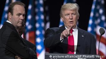 USA Rick Gates & Donald Trump