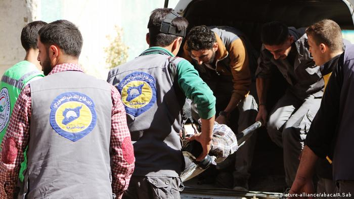 Assad Regime trifft De-Eskalations-Zone in Damaskus (picture-alliance/abaca/A.Sab)