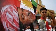 Libanon Anhänger von IKRG Präsident Masoud Barzani