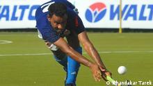 Caption: Isa Mia, a Bangladeshi hockey player Keywords: Isa Mia, Bangladesh, sports person Copyright: Khandakar Tarek
