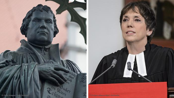 Bildkombo Martin Luther (l) Margot Käßmann (r)
