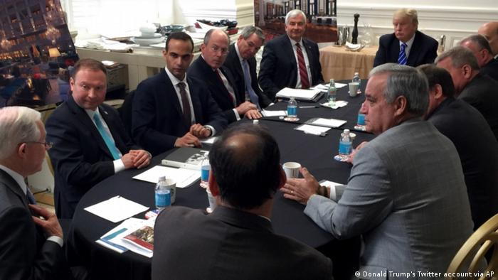 Washington national security meeting George Papadopoulos mit Trump
