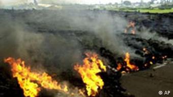 Vulkanausbruch im Kongo