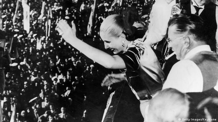 Balkon-Galerie Evita Peron 1950 (Getty Images/Keystone)