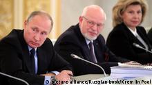Russland Putin trifft Menschenrechts-Rat