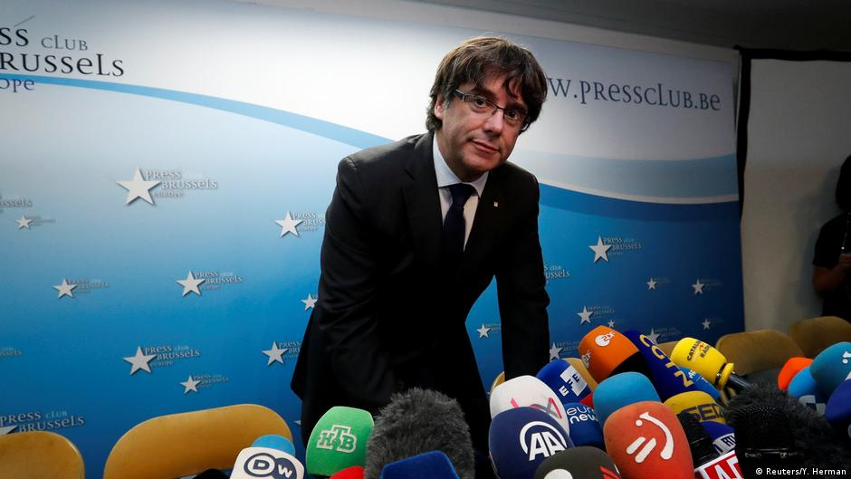 Sacked Catalan leader Carles Puigdemont to stay in Belgium for 'safety'