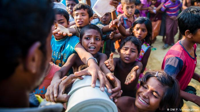 Rohingya children in Cox's Bazar, Bangladesh